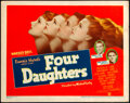 """Movie Posters:Romance, Four Daughters (Warner Bros., 1938). Very Fine. Title Lobby Card (11"""" X 14""""). Romance.. ..."""
