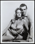 """Movie Posters:James Bond, Sean Connery and Ursula Andress in Dr. No (United Artists, 1962). Very Fine. Portrait Photo (8"""" X 10""""). James Bond.. ..."""