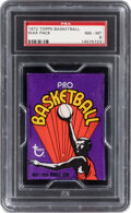 Basketball Cards:Unopened Packs/Display Boxes, 1972 Topps Basketball Unopened Wax Pack PSA NM-MT 8. ...