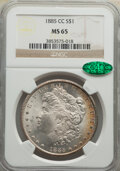 Morgan Dollars: , 1885-CC $1 MS65 NGC. CAC. NGC Census: (1802/781). PCGS Population: (4519/1409). CDN: $750 Whsle. Bid for NGC/PCGS MS65. Min...