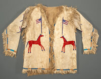 A Sioux Beaded Hide Pictorial Jacket