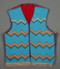 American Indian Art:Beadwork and Quillwork, A Blackfoot Beaded Cloth Vest...