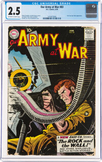 Our Army at War #83 (DC, 1959) CGC GD+ 2.5 Off-white to white pages