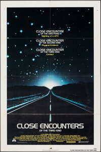 """Close Encounters of the Third Kind (Columbia, 1977). Folded, Very Fine-. One Sheet (27"""" X 41""""). Science Fictio..."""