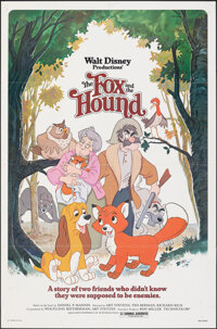 """The Fox and the Hound & Other Lot (Buena Vista, 1981). Folded, Very Fine-. One Sheets (2) (27"""" X 41"""") Paul..."""