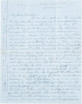 Military & Patriotic:Civil War, Asst. Surgeon William Buck, 6th Maine Infantry letter. Treating drummer boy who had been shot and removed the bullet himself! ...