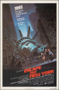 "Movie Posters:Science Fiction, Escape from New York (Avco Embassy, 1981). Folded, Very Fine-. One Sheet (27"" X 41"") Barry Jackson Artwork. Science Fiction...."