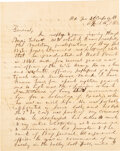 Military & Patriotic:Civil War, Confederate Lt. General Thomas J. Jackson: Writes to Gen. Robert E. Lee April 16th 1863, including Lee's response. A rare and...