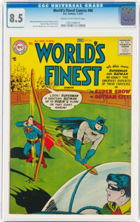 World's Finest Comics #86 (DC, 1957) CGC VF+ 8.5 Cream to off-white pages