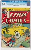 Golden Age (1938-1955):Superhero, Action Comics #30 (DC, 1940) CGC FN+ 6.5 Off-white to white pages....