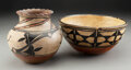 American Indian Art:Pottery, Two Southwest Polychrome Pottery Vessels... (Total: 2 )