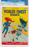 Golden Age (1938-1955):Superhero, World's Finest Comics #47 (DC, 1950) CGC FN 6.0 White pages....