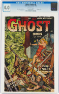 Golden Age (1938-1955):Horror, Ghost #9 (Fiction House, 1953) CGC VG 4.0 Off-white pages....