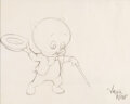 Animation Art:Production Drawing, Porky Pig Animation Drawing by Virgil Ross (Warner Brothers, c. 1960s-70s)....