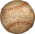 Baseball Collectibles:Balls, 1930 Chicago Cubs Signed Baseball with Hack Wilson....