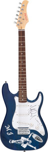 Musical Instruments:Electric Guitars, Michael Jackson Signed Pickguard On OSM Electric Guitar. ...