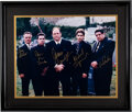 Movie/TV Memorabilia:Autographs and Signed Items, The Sopranos Signed Photo Matted and Framed (2001)....