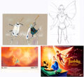 Animation Art:Concept Art, Thumbelina Concept Art Group of 4 (Don Bluth Studios, 1994).... (Total: 4 )