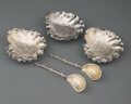 Silver & Vertu, A Group of Three Gorham Silver Shell-Form Bowls and Two Partial-Gilt Silver Narragansett Pattern Sugar Spoons, P... (Total: 5 )