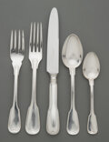 Silver & Vertu, A Two Hundred Thirty-Five Piece Buccellati Nantucket Pattern Silver-Plated Flatware Service, Bologna, Italy, cir...