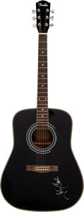 Musical Instruments:Acoustic Guitars, Johnny Cash Signed Fender Acoustic Guitar Serial #96070919....