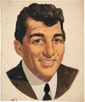 Movie/TV Memorabilia:Original Art, Dean Martin Ada Acrylic Portrait On Canvas Board....