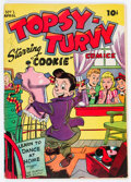 Golden Age (1938-1955):Humor, Topsy-Turvy Comics #1 (R. B. Leffingwell Co., 1945) Condition: VG/FN....
