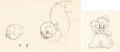 Animation Art:Production Drawing, Now That Summer Is Gone Gambling Squirrel and Beans the Cat Animation Drawings Group of 2 (Warner Brothers, 1938/c. 1... (Total: 2 Original Art)