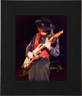Music Memorabilia:Autographs and Signed Items, Stevie Ray Vaughan Signed Photo With Matte. ...