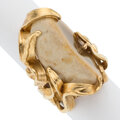 Estate Jewelry:Rings, Agate, Gold Ring. ...