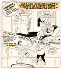 "Original Comic Art:Covers, Bob White Life with Archie #45 Cover ""The Man From R.I.V.E.R.D.A.L.E."" Original Art (Archie, 1966)...."