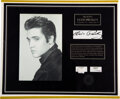 Music Memorabilia:Memorabilia, Elvis Presley Lock of Hair and Fragment of Personally Owned Towel....