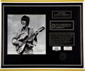 Music Memorabilia:Memorabilia, The Beatles George Harrison Lock of Hair from A Hard Day's Night (March 25th,1964) Plus Personally Worn Piece of ...