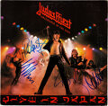 Music Memorabilia:Autographs and Signed Items, Judas Priest Signed Unleashed in the East: Live in Japan Vinyl LP (Columbia, 36179)....