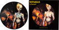 """Music Memorabilia:Autographs and Signed Items, Nirvana Signed """"Lithium"""" Limited Vinyl Picture Disc (DGCTP 9)...."""