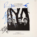 """Music Memorabilia:Autographs and Signed Items, U2 Signed """"Pride (In the Name of Love)"""" 12-Inch Vinyl Single (12IS202)...."""
