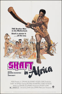 "Shaft in Africa & Other Lot (MGM, 1973). Folded, Overall: Very Fine-. One Sheets (2) (27"" X 41"") John Soli..."