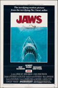 "Movie Posters:Horror, Jaws (Universal, 1975). Folded, Overall: Fine/Very Fine. One Sheet (27"" X 41"") & Cut Pressbook (18 Pages, 8.5"" X 11"") Roger ... (Total: 2 Items)"