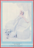"""Movie Posters:Miscellaneous, Marilyn Monroe as Jean Harlow by Richard Avedon (First Edition, 1983). Rolled, Fine. Autographed Poster (20"""" X 28""""). Miscell..."""