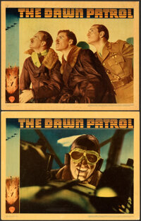 """The Dawn Patrol (Warner Bros., 1938). Overall: Fine/Very Fine. Linen Finish Lobby Cards (2) (11"""" X 14""""). ... (..."""
