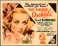 """Movie Posters:Drama, No More Orchids (Columbia, 1932). Very Fine. Title Lobby Card (11"""" X 14"""").. ..."""