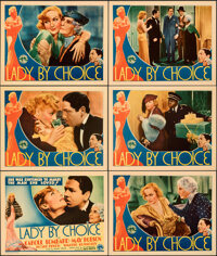 "Lady by Choice (Columbia, 1934). Very Fine+. Title Lobby Card & Lobby Cards (5) (11"" X 14""). ... (Total: 6..."