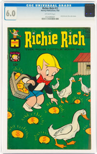 Richie Rich #12 (Harvey, 1962) CGC FN 6.0 Off-white pages