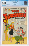 Golden Age (1938-1955):Humor, Four Favorites #32 (Ace, 1947) CGC VG/FN 5.0 Cream to off-white pages....