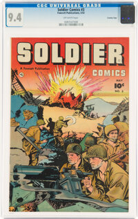 Soldier Comics #3 Crowley Copy Pedigree (Fawcett Publications, 1952) CGC NM 9.4 Off-white pages