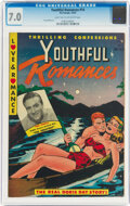 Golden Age (1938-1955):Romance, Youthful Romances #14 (Pix Parade, 1952) CGC FN/VF 7.0 Light tan to off-white pages....