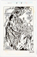 Original Comic Art:Splash Pages, Barry Crain and Carlos Garzon Conan #4 Splash Page 4 Original Art (Marvel, 1995)....