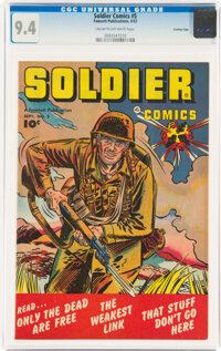 Soldier Comics #5 Crowley Copy Pedigree (Fawcett Publications, 1952) CGC NM 9.4 Cream to off-white pages