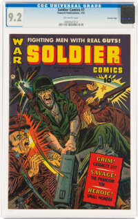 Soldier Comics #7 Crowley Copy Pedigree (Fawcett Publications, 1953) CGC NM- 9.2 Off-white pages