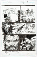 Original Comic Art, Denys Cowan and Bill Sienkiewicz The Question: The Deaths of Vic Sage #2 Story Page 19 Orig...